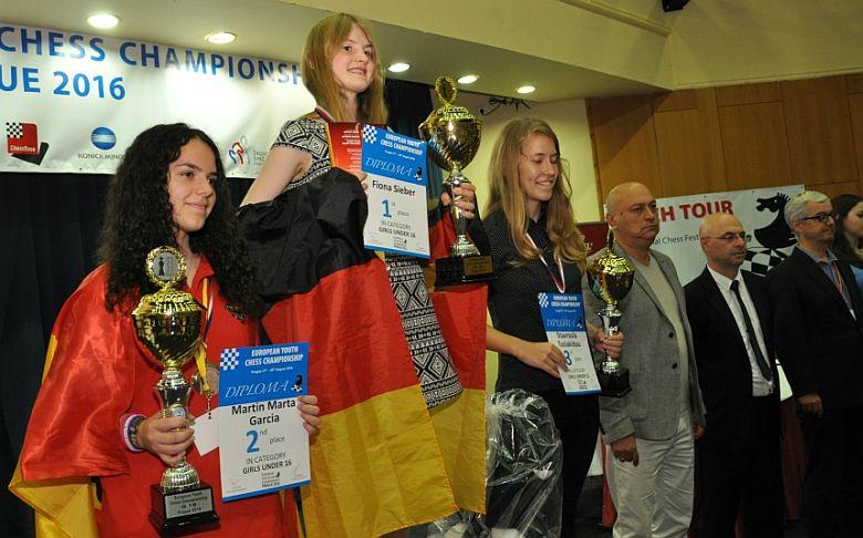 Siegerehrung der Jugendeuropameisterschaft 2016