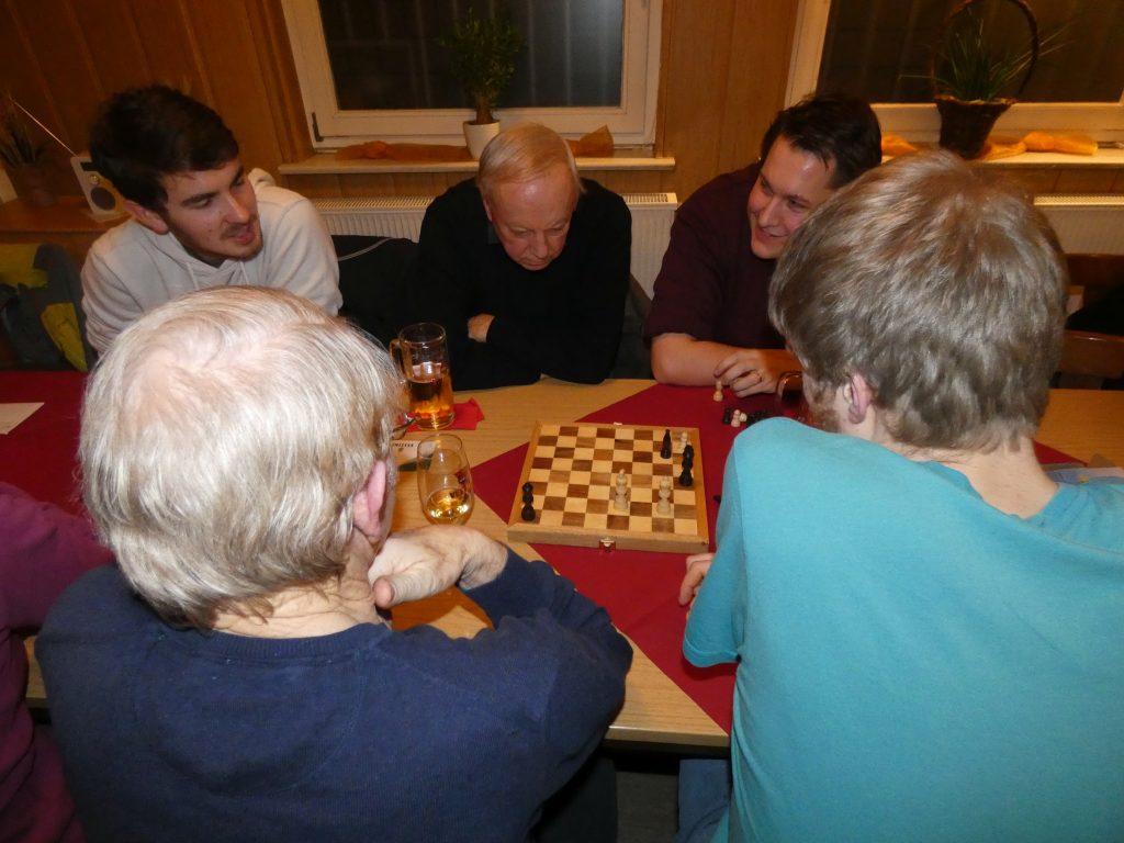 Sie können es nicht lassen: Michael Niggl, Jürgen Gittel, Martin Werrner (von links)