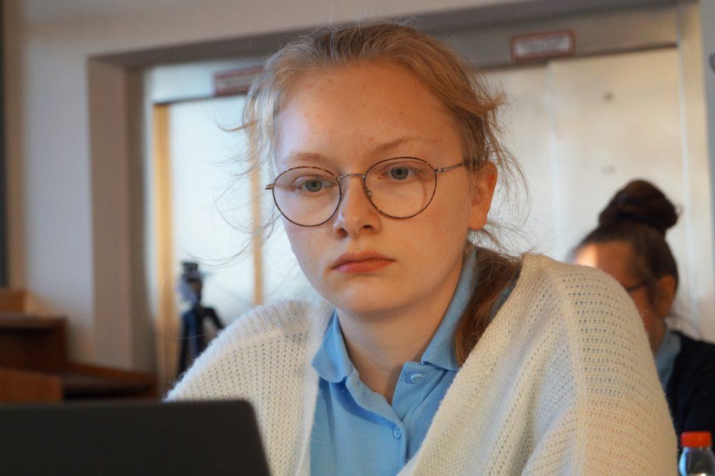 Antonia Ziegenfuß bei der Online-Jugendeuropameisterschaft 2020