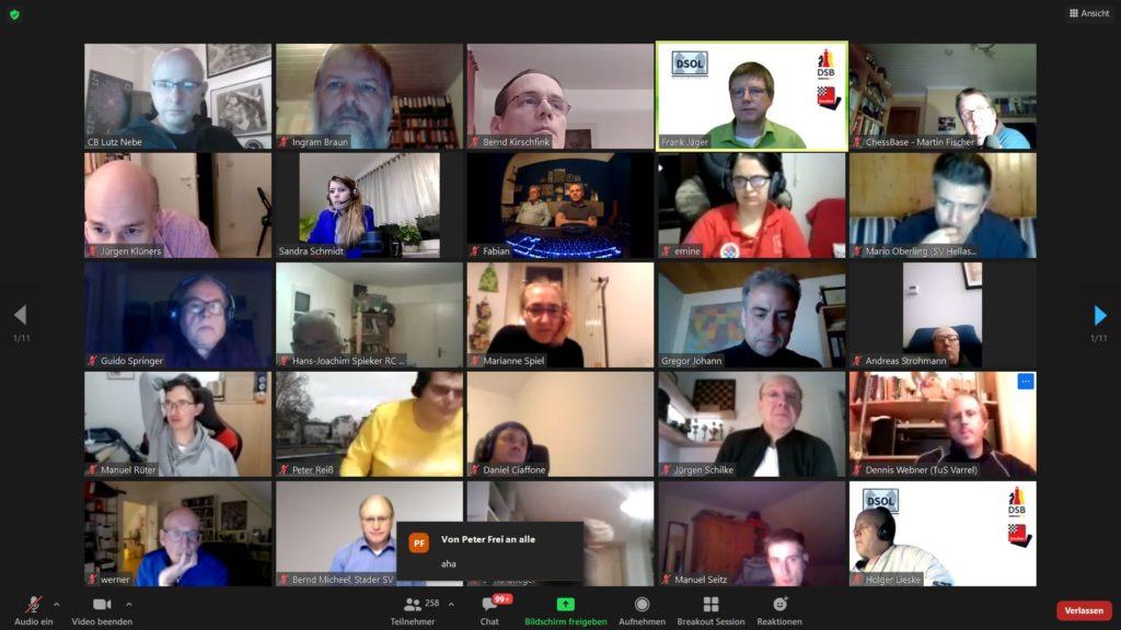 Deutsche Schach-Online-Liga (DSOL 2021) Captain's Meeting
