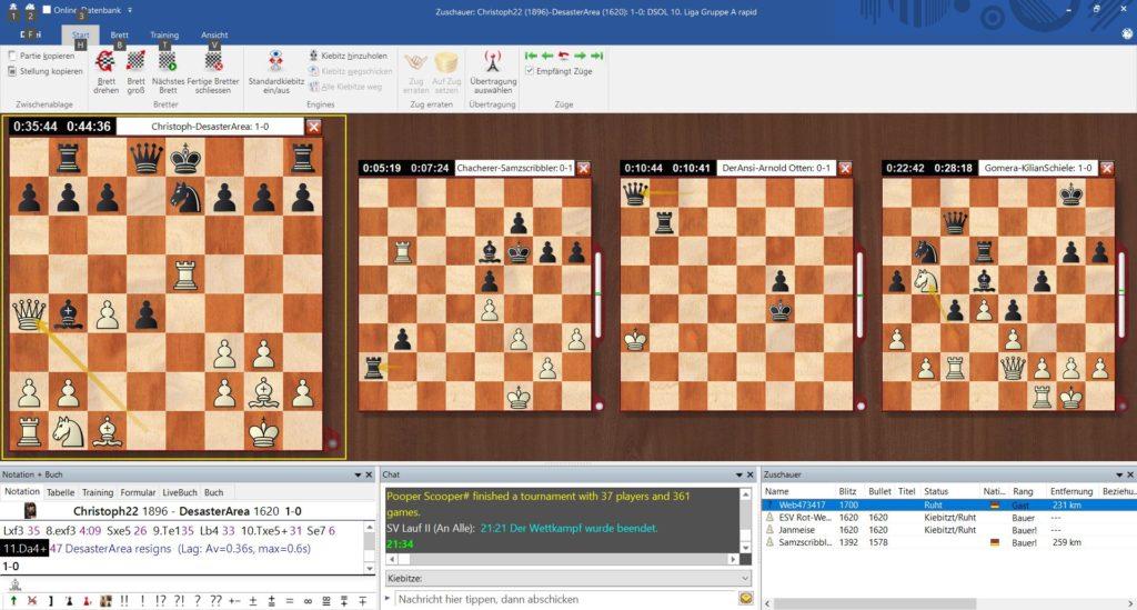 Screenshot DSOL 2021 5. Runde SV Lauf Ⅱ – ESV Ⅲ