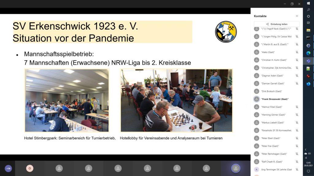 DSB-Vereinskonferenz März 2021 Vortrag SV Erkenschwick