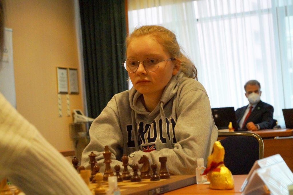 Antonia Ziegenfuß bei der DSB-Kader-Challenge der Frauen in Magdeburg (5. April 2021, 1. Runde)